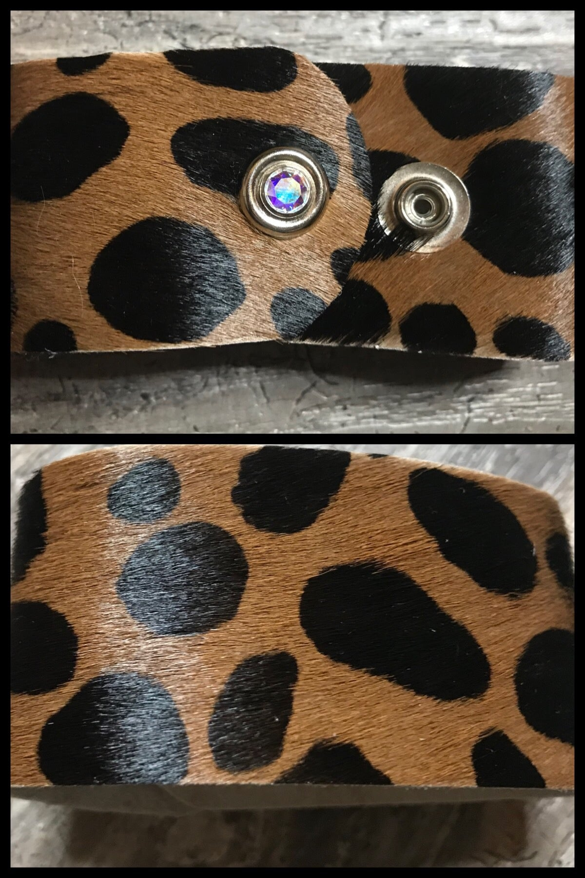 Leather Cuff Leopard
