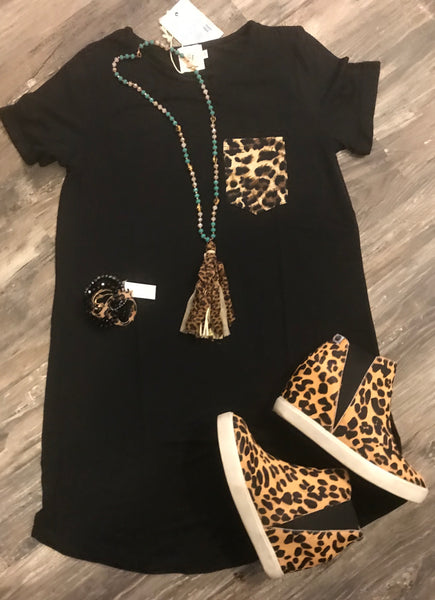 Save The Drama Leopard Dress