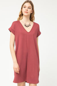 Dried Rose T-Shirt Dress
