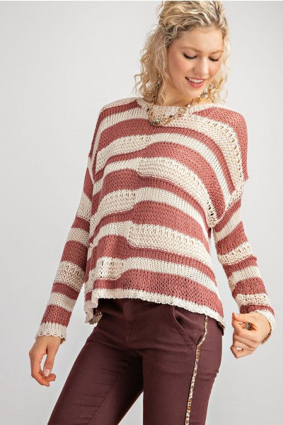 Wavy Knit Sweater