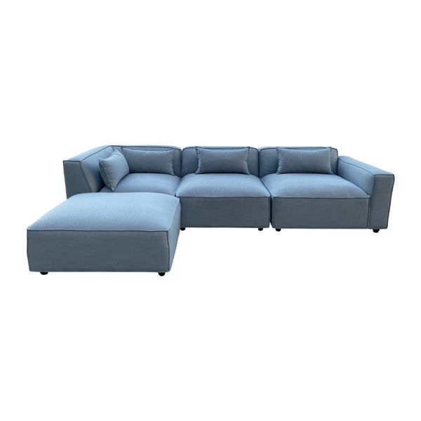 Botanic Sofa Set Sky Blue - Factory Direct Oz