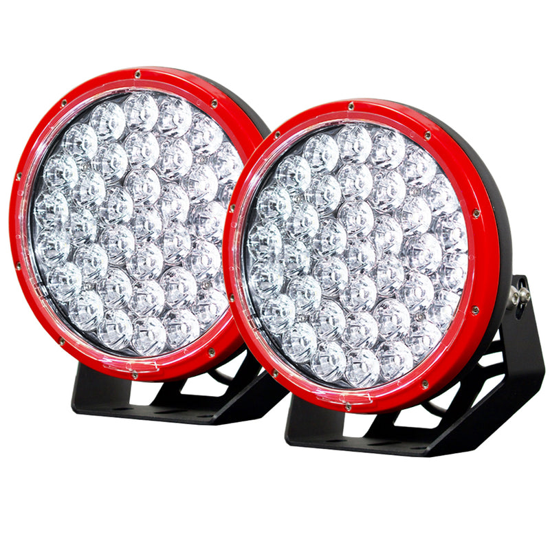 9inch 370w LED Driving Light - Red - Factory Direct Oz