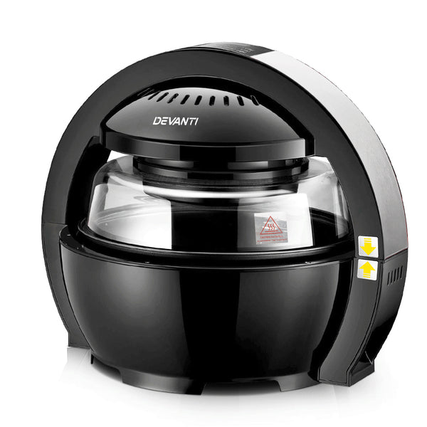 Devanti Chef 13L Air Fryer Oven - Black - Factory Direct Oz