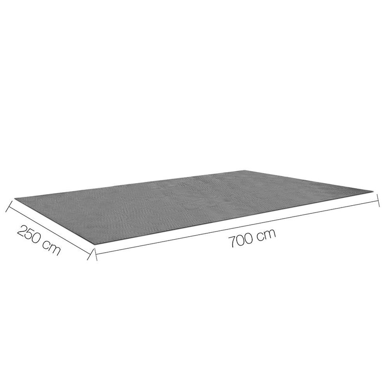 Heavy Duty Annex Matting 7 x 2.5M - Grey - Factory Direct Oz