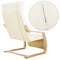 Artiss Fabric Armchair with Adjustable Footrest - Beige - Factory Direct Oz