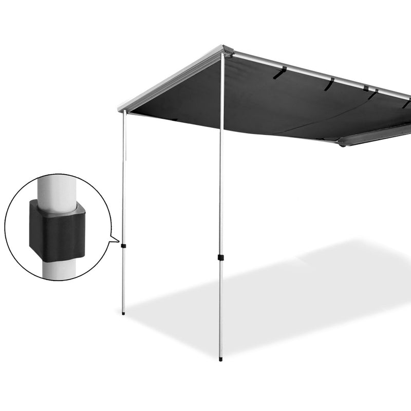 Car Shade Awning 2.5 x 3M - Charcoal Black - Factory Direct Oz