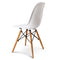 Artiss Set of 4 Retro Beech Wood Dining Chair - White - Factory Direct Oz