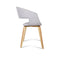 Artiss Set of 2 Timber Wood and Fabric Dining Chairs - Light Grey - Factory Direct Oz