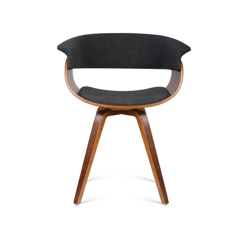 Artiss Timber and Fabric Dining Chair - Charcoal - Factory Direct Oz