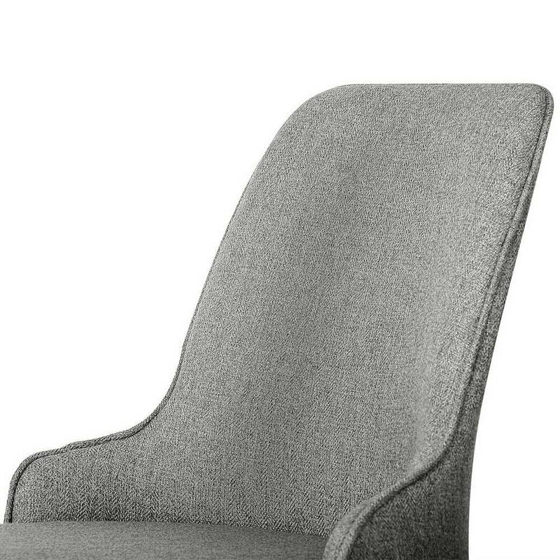 Artiss Set of 2 Fabric Dining Chairs - Grey - Factory Direct Oz