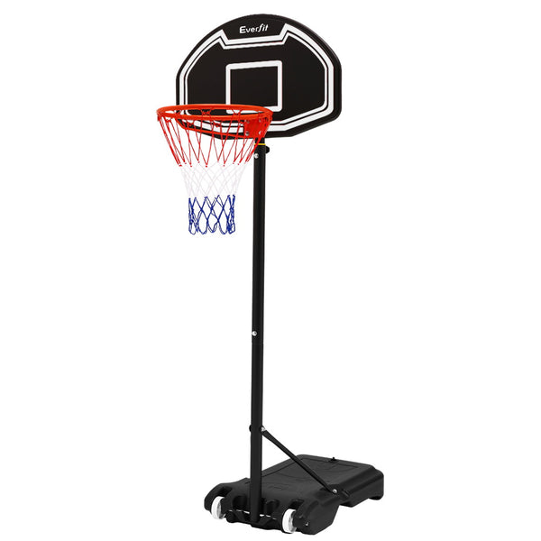 Everfit 2.1M Adjustable Basketball Hoop - Black - Factory Direct Oz