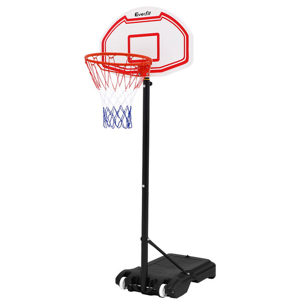 Everfit 2.1M Adjustable Basketball Hoop - White - Factory Direct Oz