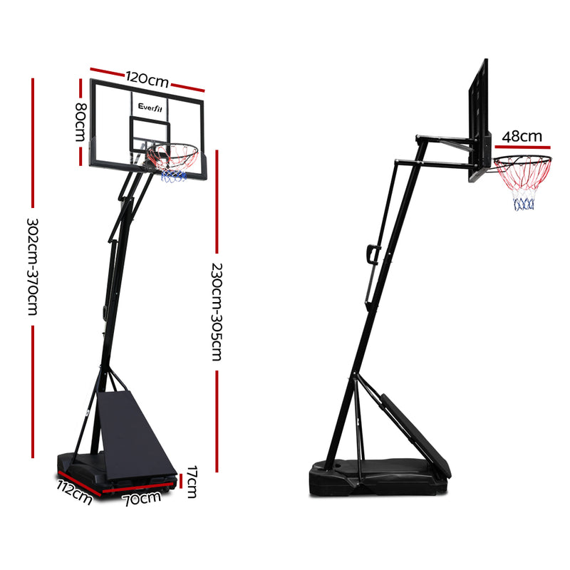 Everfit Pro Portable Height Adjustable Basketball Hoop - Factory Direct Oz