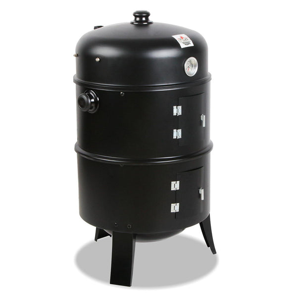 3-in-1 Charcoal BBQ Smoker - Factory Direct Oz