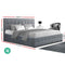 Artiss Queen Size ROCA Gas Lift Bed Frame - Grey Fabric - Factory Direct Oz