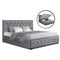 Artiss King Size TIYO Gas Lift Bed Frame With Storage - Grey Fabric - Factory Direct Oz