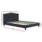 LARS Double Bed Frame - Charcoal