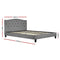 LARS Double Bed Frame - Grey