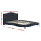 LARS Queen Size Bed Frame - Charcoal