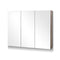 Bathroom 3 Door Vanity Mirror with Storage Cabinet - Natural - Factory Direct Oz