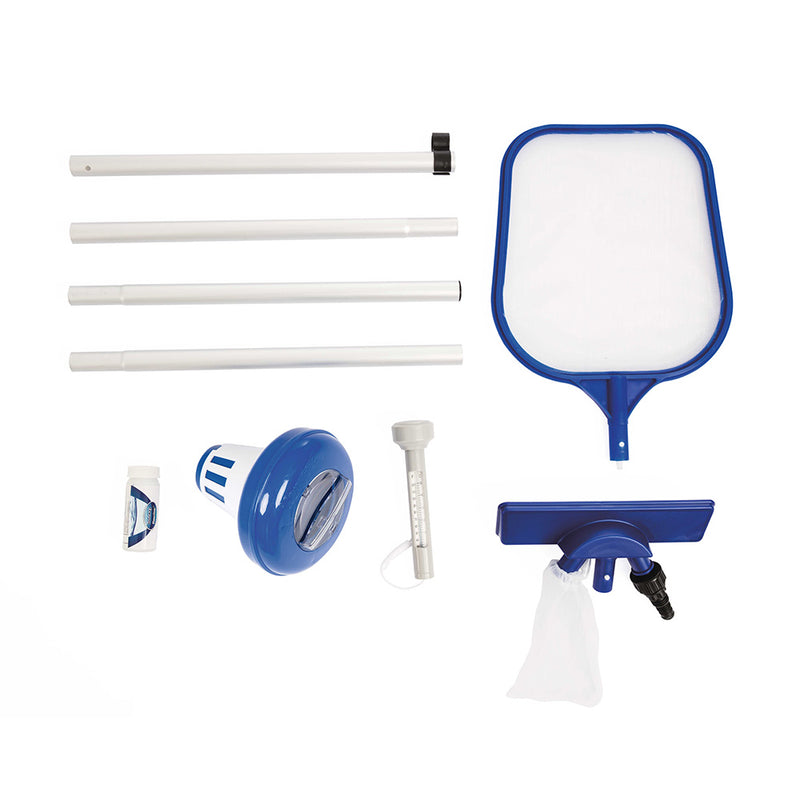 Bestway Swimming Pool Cleaner Set Vacuum Maintenance Kit/Floater/Thermometer - Factory Direct Oz