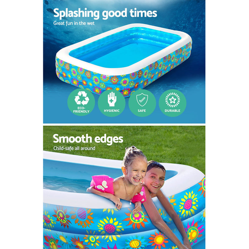 Bestway Inflatable Rectangular Kids Swimming Pool - Factory Direct Oz