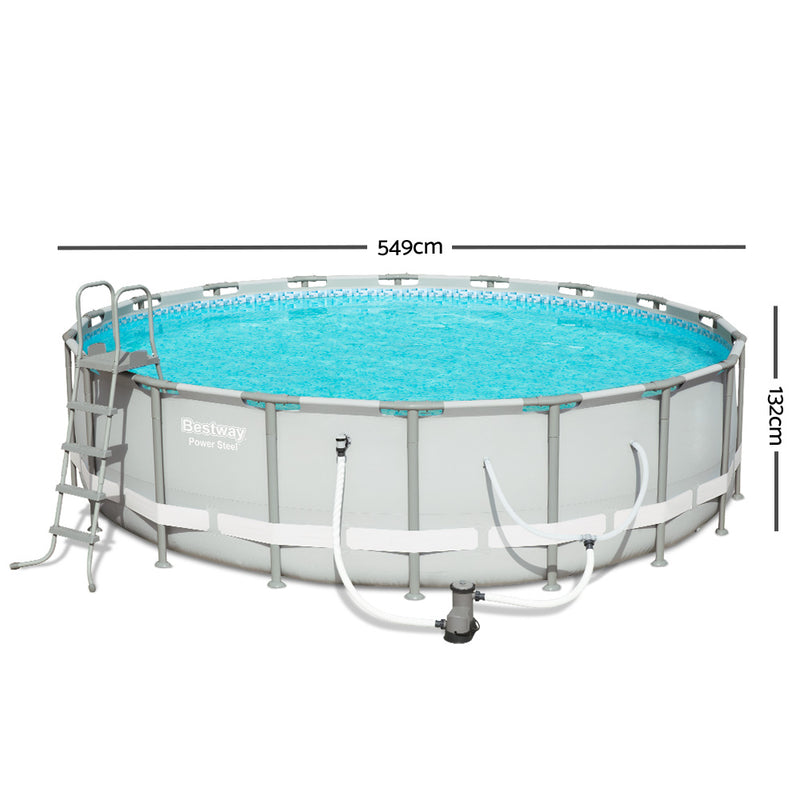 Bestway Round Frame Power Steel Above Ground Swimming Pool - Factory Direct Oz