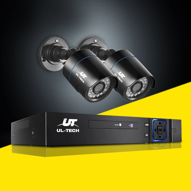 UL Tech 1080P 4 Channel CCTV Security Camera - Factory Direct Oz
