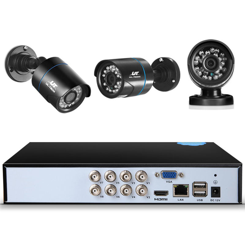 2TB 8CH CCTV Security System w/ 4 x 1080P Cameras - Factory Direct Oz
