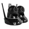 UL Tech Set of 2 1080P Wireless IP Cameras - Black - Factory Direct Oz