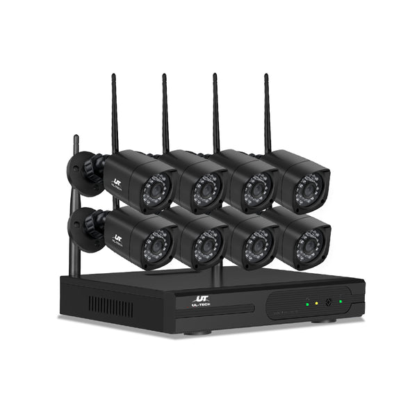 UL-TECH 1080P 8CH NVR Wireless 8 Security Cameras Set - Factory Direct Oz