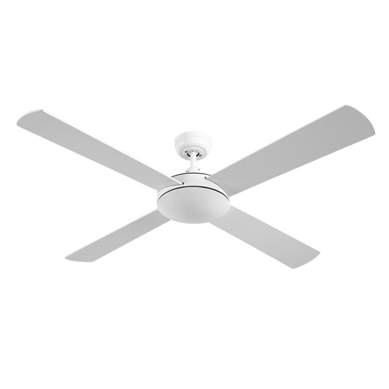 "Devanti 52"" Wooden Ceiling Fan with Remote Control - White - Factory Direct Oz"