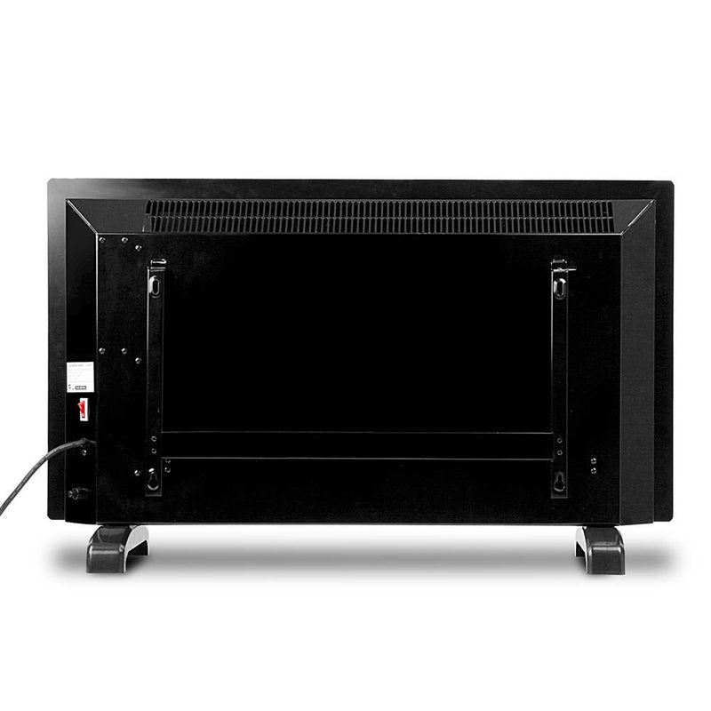 2000W Portable Electric Panel Heater - Black Glass - Factory Direct Oz