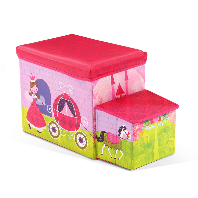 Kids Foldable Toy Box - Pink - Factory Direct Oz