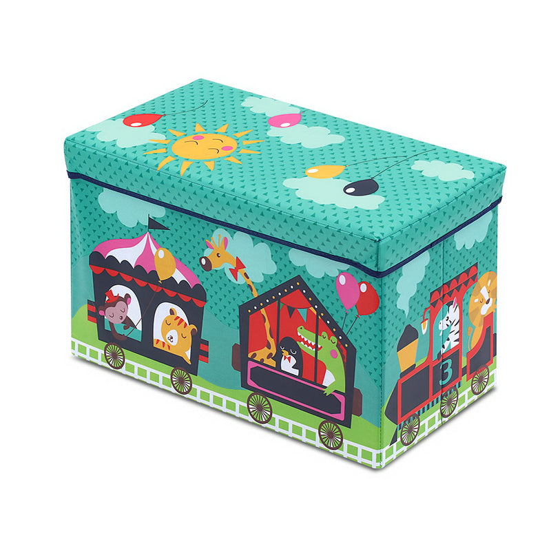 Kids Foldable Toy Box - Green - Factory Direct Oz