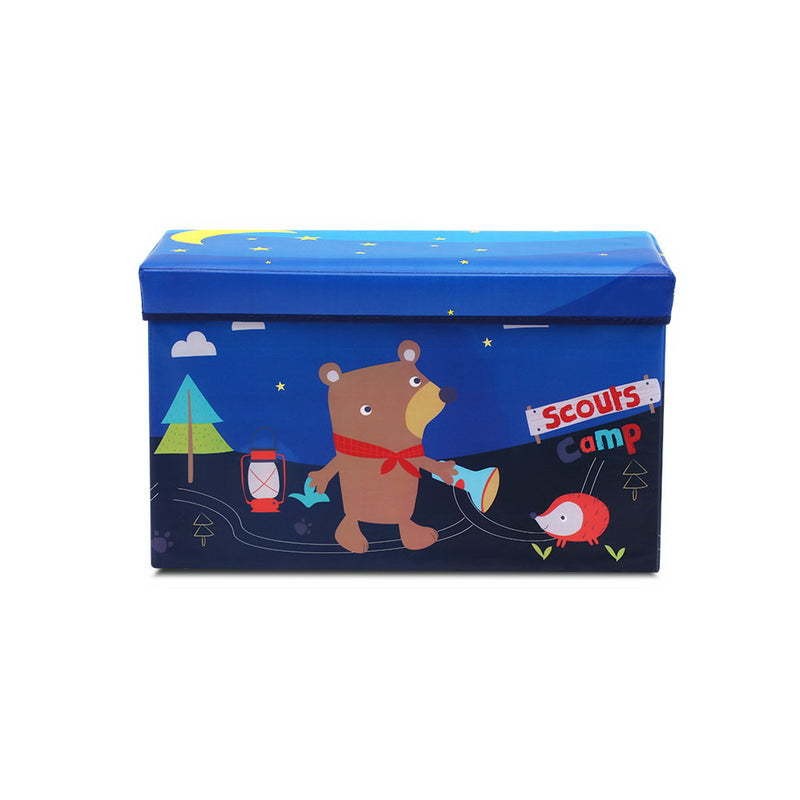 Kids Foldable Toy Box - Blue - Factory Direct Oz