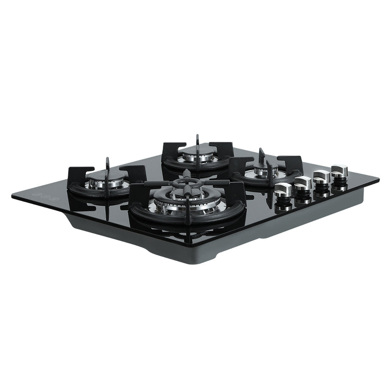 Devanti 4 Burner Gas Cooktop - Black - Factory Direct Oz