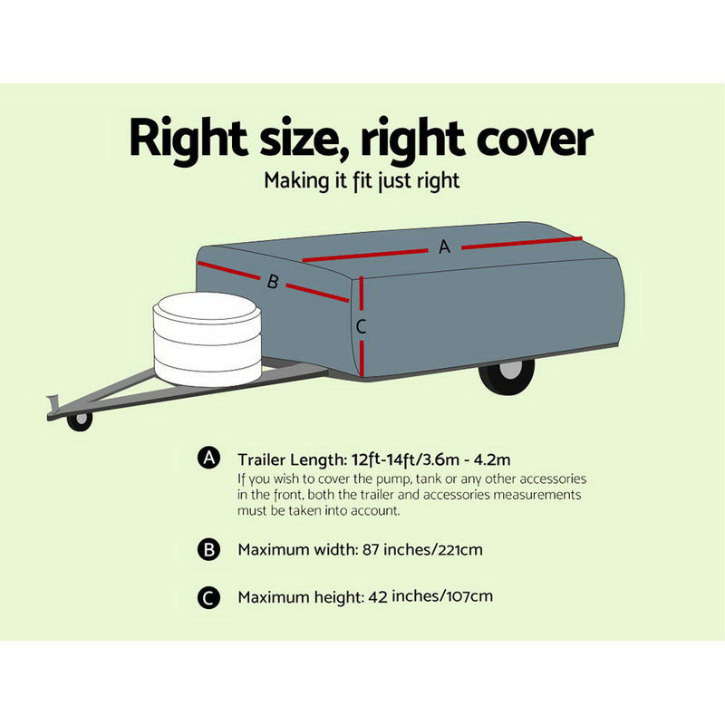 12-14 ft Camper Trailer Cover - Factory Direct Oz