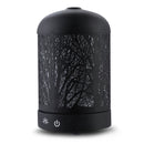 DEVANTI Aroma Diffuser LED Night Light - Black Forrest Pattern - Factory Direct Oz