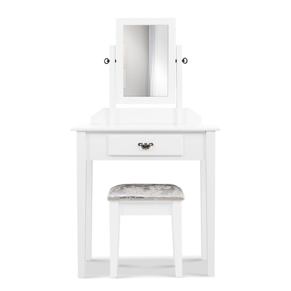 Artiss Dressing Table with Stool & Makeup Mirror - Factory Direct Oz