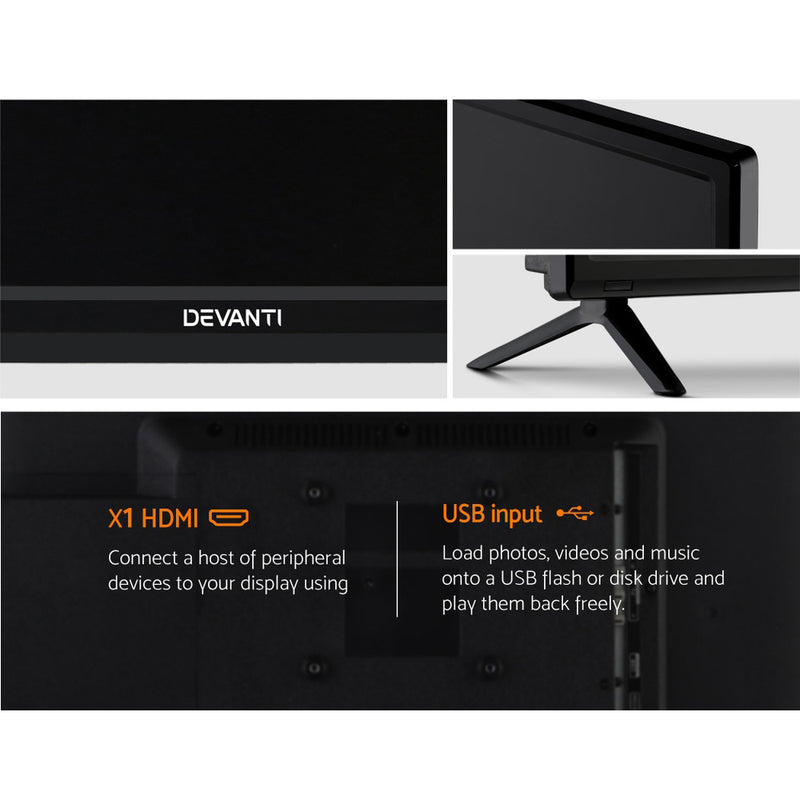 Devanti 24 Inch LED TV Built-In DVD Player Combo - Factory Direct Oz
