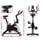 Spin Home Fitness Exercise Bike with Phone Holder - Black - Factory Direct Oz