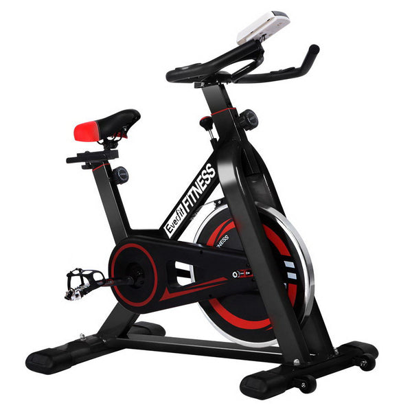 Everfit Spin Exercise Bike Cycling Fitness Commercial Home Workout Gym Black - Factory Direct Oz