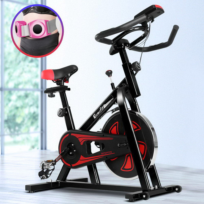 Everfit Exercise Spin Bike - Black - Factory Direct Oz