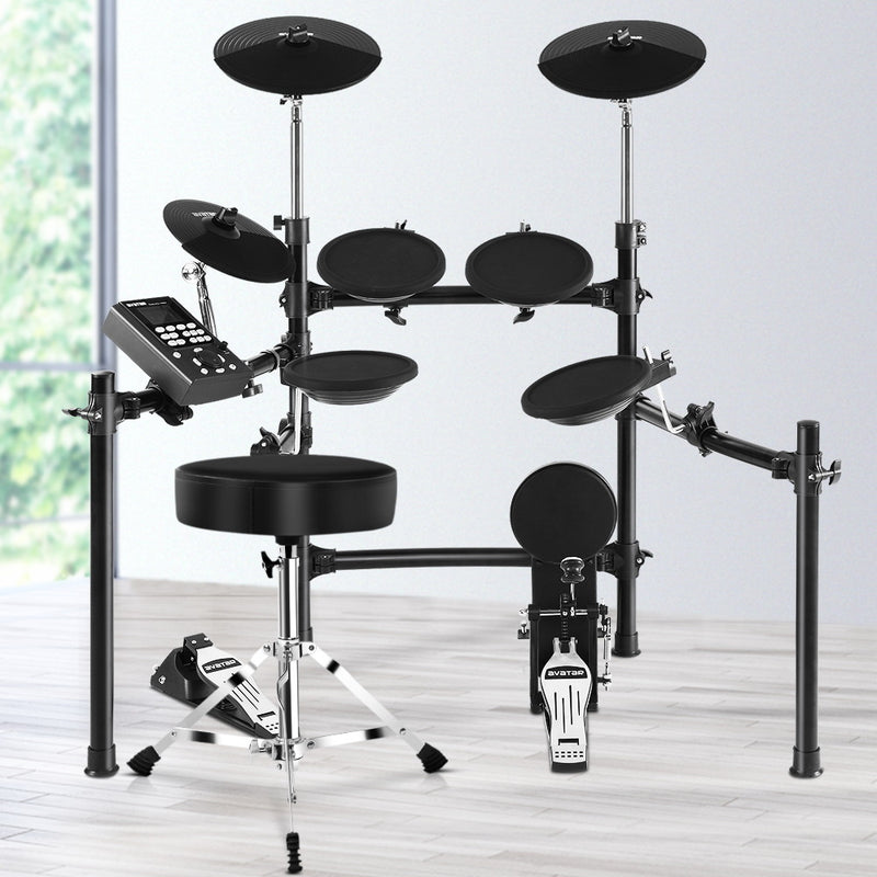 8 Piece Electric Drum Kit and Stool - Factory Direct Oz