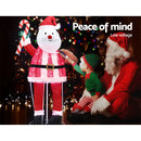 Jingle Jollys 120 LED Santa Christmas Motif - Factory Direct Oz