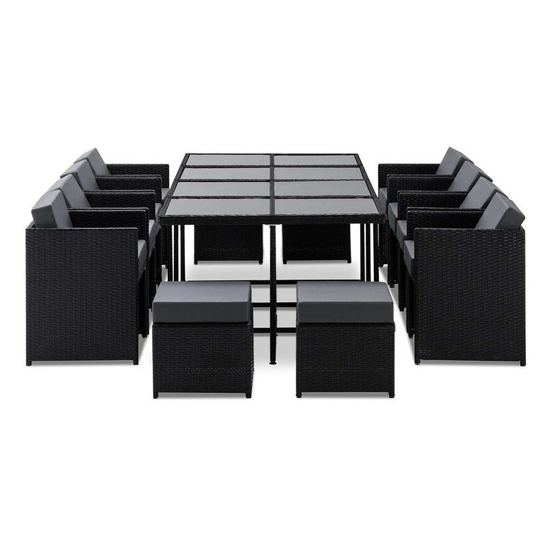 Gardeon 13 Piece Outdoor Wicker Dining Table Set - Factory Direct Oz