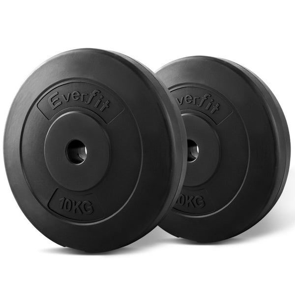 Everfit Home Gym Weight Plate 2 x 10KG - Factory Direct Oz