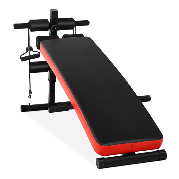 Multifunction Sit Up/Weight Bench - Red - Factory Direct Oz