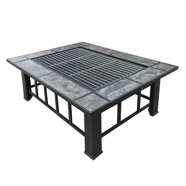 Outdoor Fire Pit BBQ Table - Factory Direct Oz